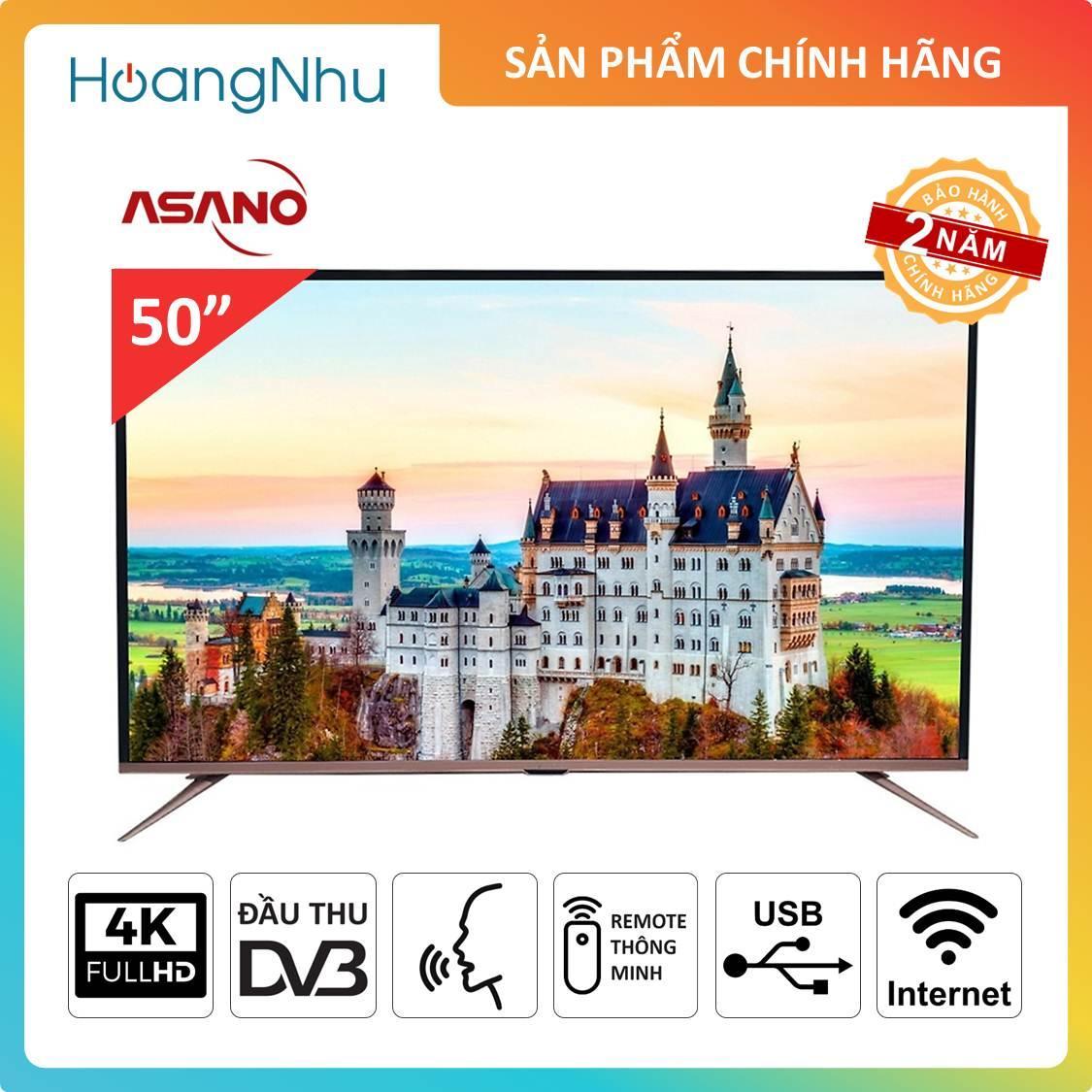 Bảng giá Smart Voice 4K TV Asano 50 inch 50EK7 (Tivi thông minh, UHD 4K, Wifi, Điều khiển giọng nói, truyền hình KTS) - Bảo hành 2 năm