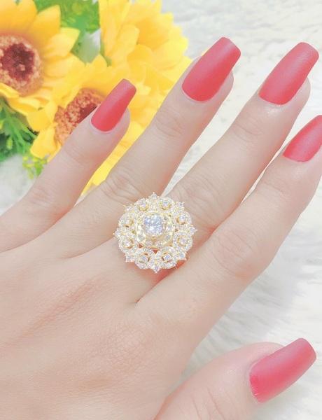 [ Mẫu mới 03/2021 ] Nhẫn Nữ Mạ Vàng 18K Kiểu Hàn Quốc  000512403 -  Mang đi chơi, đi tiệc rất đẹp -  Tubi Cony - trang sức nữ, nhẫn nữ bạch kim đẹp, nhẫn thời trang rất đẹp