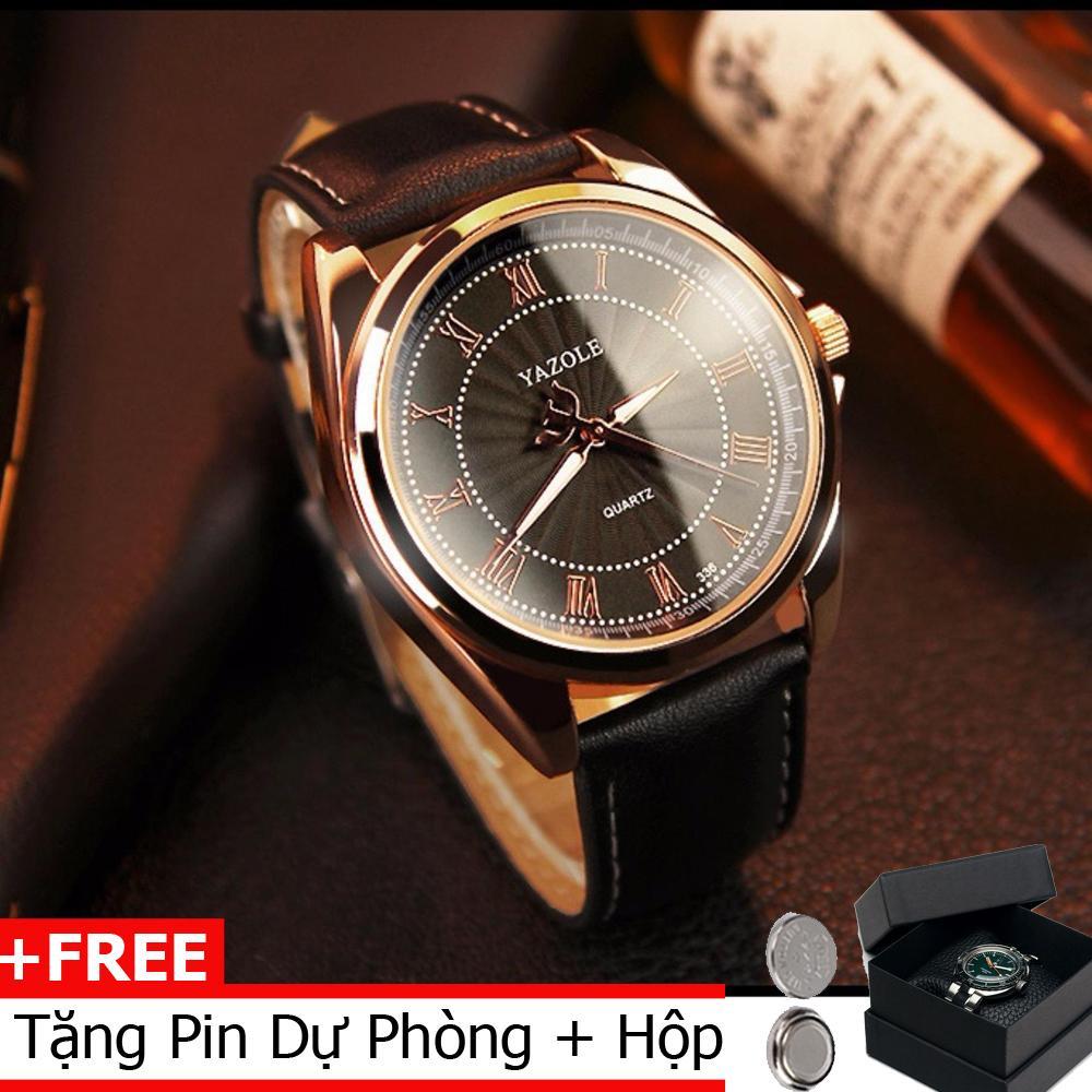 Nơi bán Đồng hồ nam thời trang dây da cao cấp Yazole 336
