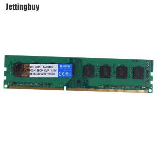 Jettingbuy RAM DIMM 8GB DDR3 1600MHz 240pin 1.5V Hỗ Trợ Bộ Nhớ Máy Tính Để Bàn Kênh Đôi thumbnail