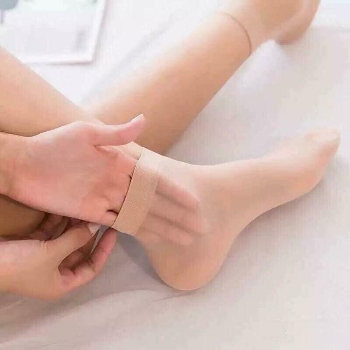 Combo 10 đôi tất da chân nữ loại ngắn loại tốt, mỏng mát, dai khó rách hay xước
