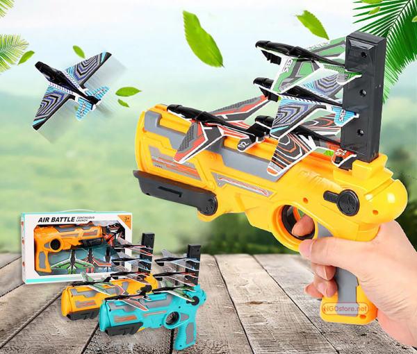 Bộ đồ chơi sung bắn máy bay, bộ đồ chơi mô hình cho bé, bảo hành 12 tháng lổi 1 đổi 1