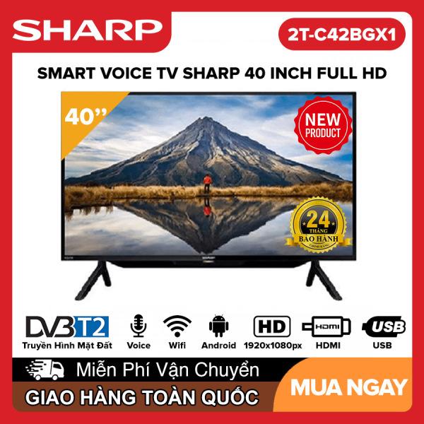 Bảng giá Smart Voice Tivi Sharp 40 inch Full HD - Model 2T-C42BG1X Android 9.0, Điều khiển giọng nói, Dolby Audio, Youtube, DVB-T2, Wifi, Google Assistant, Tivi Giá Rẻ - Bảo Hành 2 Năm