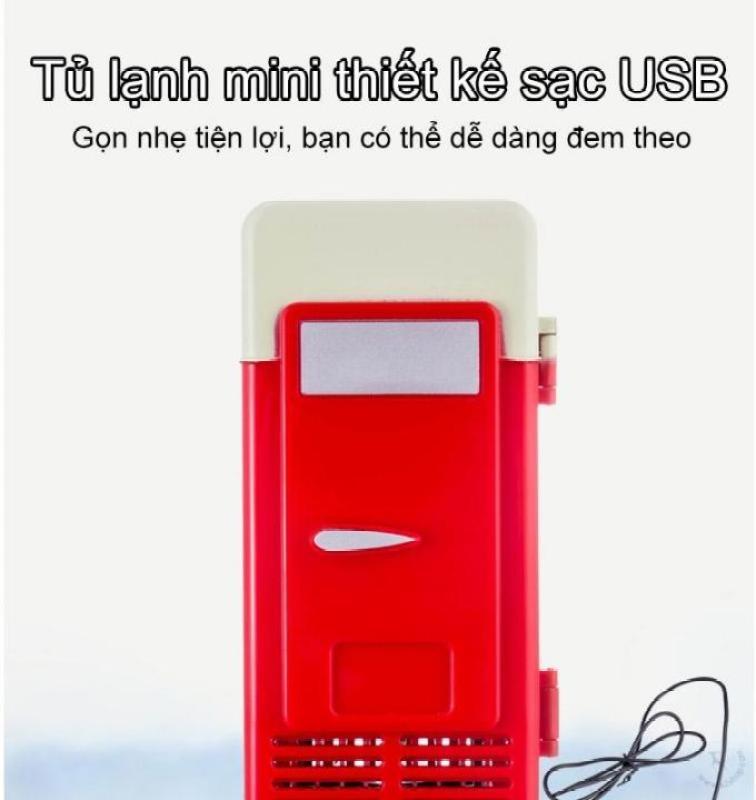 Sky Life - Tủ lạnh mini sạc USB thiết kế hai chiều nóng lạnh