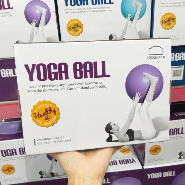 Bảng giá Bóng tập Yoga Ball Lock&lock HLW805 65cm Kèm Bơm và Hướng Dẫn Tập