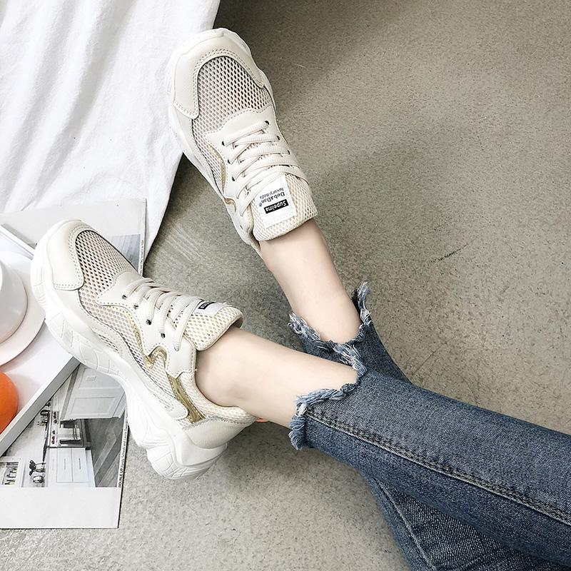 Ins เสื้อผ้าแฟชั่น Ultra-Fire Dad Shoes Female 2019 Spring New Style Shoes Korean-Style Ulzzang เสื้อผ้าแฟชั่น Shoes Students Platform Sneakers By Taobao Collection.