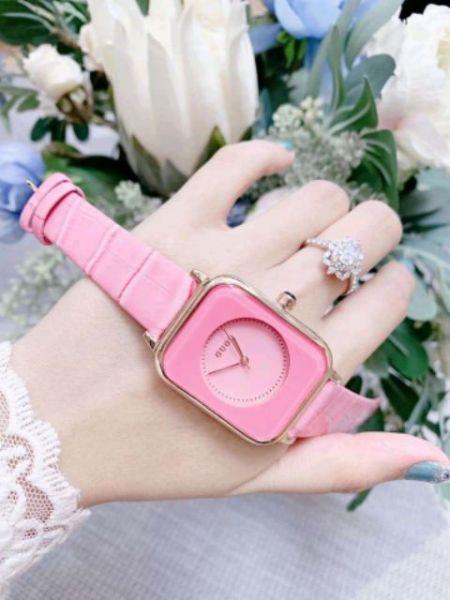 Nơi bán Đồng hồ nữ Guou dây da mặt vuông siêu xinh, thời trang, trẻ trung