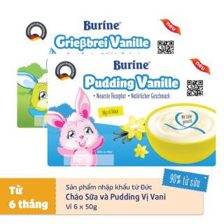 [XẢ HÀNG] Combo Cháo sữa & Pudding Burine vị vani date tháng 8 2021 thumbnail