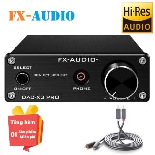 ( Tặng kèm miễn phí Dây loa RCA 2-2 Ugreen 20733 ) DAC giải mã âm thanh FX-AUDIO X3 Pro - Bộ giải mã âm thanh FX AUDIO X3 Pro - Đầu DAC giải mã âm thanh FX-AUDIO-X3 Pro 24Bit 192Khz thumbnail