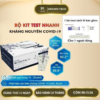 Kit text covid, Bộ test nhanh tại nhà COVID-19 Ag Test, text nhanh Covid trong 15 phút,độ chính xác lên đến 99,6 % thumbnail