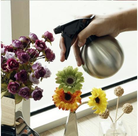 Bình bom tưới hoa inox 304 cao cấp bóng đẹp siêu bền, vòi xịt đa cấp độ cho đam mê hoa cảnh mini