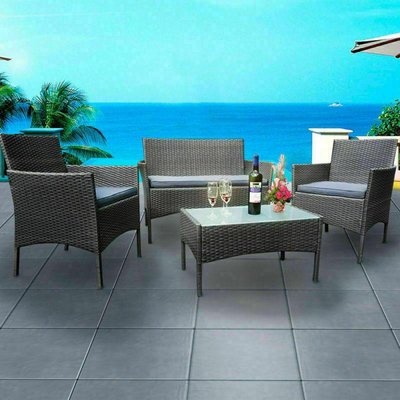 Cơ Hội Giá Tốt Để Sở Hữu Bộ Bàn Ghế Sofa 4 Pcs Ngoài Trời Trong Nhà Phòng Khách Balcony Sân Vườn