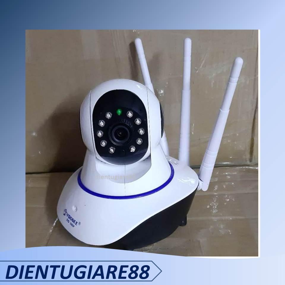 Camera wifi YOOSEE XOAY 360 ĐỘ 3 RÂU 1080p khe thẻ nhớ trên đầu