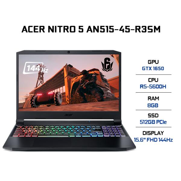 Bảng giá Laptop Acer Nitro 5 AN515-45-R3SM (R5-5600H | 8GB | 512GB | VGA GTX 1650 4GB | 15.6 FHD 144Hz | Win 10) Phong Vũ