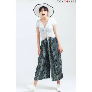 Quần lanh nữ TOKYOLIFE lửng dáng rộng I9PAN003G thumbnail