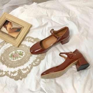 Aurora. An Giày Nữ Mary Jane Giày Cao Gót Đế Xuồng Thanh Lịch Đầu Vuông Giày Công Sở Nông Giày Dự Tiệc Giày Khiêu Vũ Xăng Đan Thời Trang
