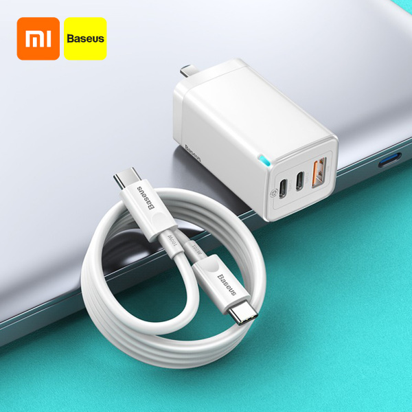 Xiaomi Baseus 65W GaN2 Pro Charger Quick Charge PD 4.0 3.0 Type C PD USB Charger with QC 4.0 3.0 Portable Fast Charger Compatible with iP Xiaomi Phone Tablet Laptop With 100W Data Cable 100-240V