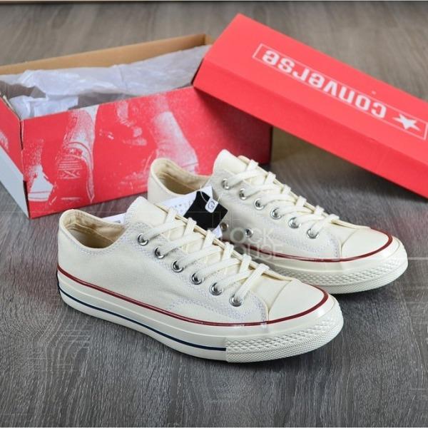 ( Tặng túi converse+ bill + tất) Giày Converse 1970s thấp cổ màu trắng kem Nam nữ
