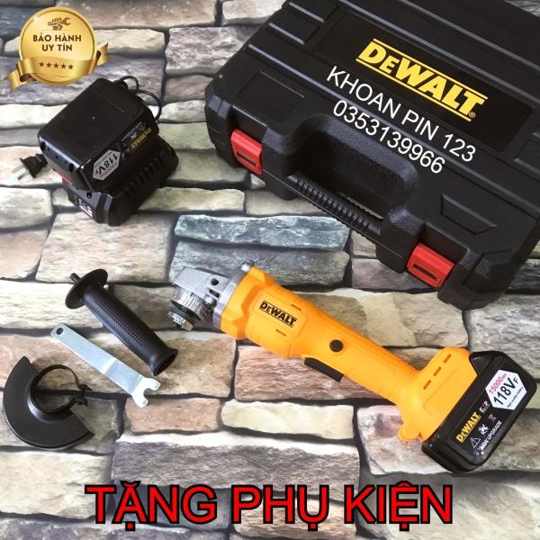 Máy mài, máy cắt pin Dewalt không chổi than bộ 1 pin