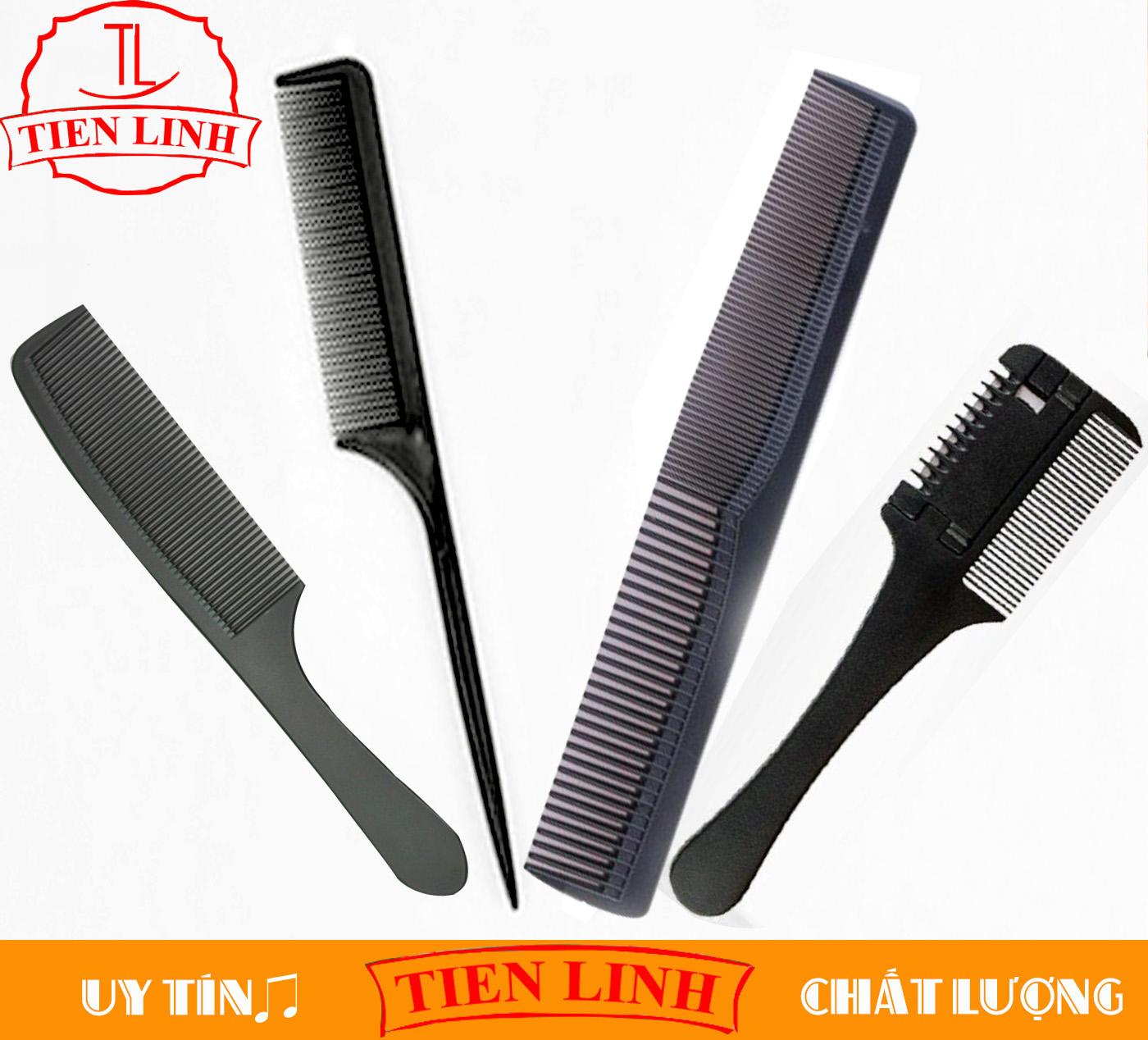 Combo lược cắt tóc lược đuôi nhọn + lược tỉa tóc + lược 2 kiểu răng + lược Tony and Guy