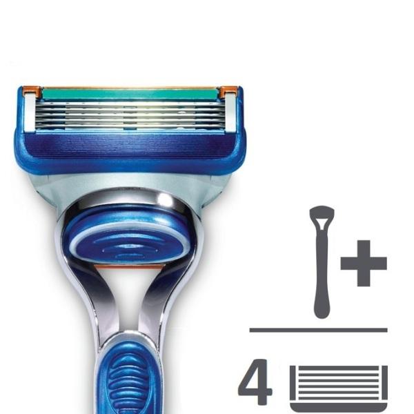 Bộ dao cạo râu Gillette Fusion 5 + Kèm 4 lưỡi dao thay thế cao cấp