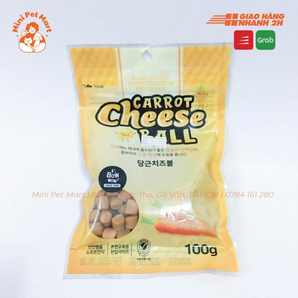 Phô mai viên cà rốt BOWWOW 100g - Bánh thưởng cho chó