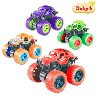 Xe địa hình bánh đà, xe ô tô đồ chơi cho trẻ em nhào lộn 360 độ chạy đà cực mạnh bằng nhựa nguyên sinh ABS Baby-S SDC054 thumbnail
