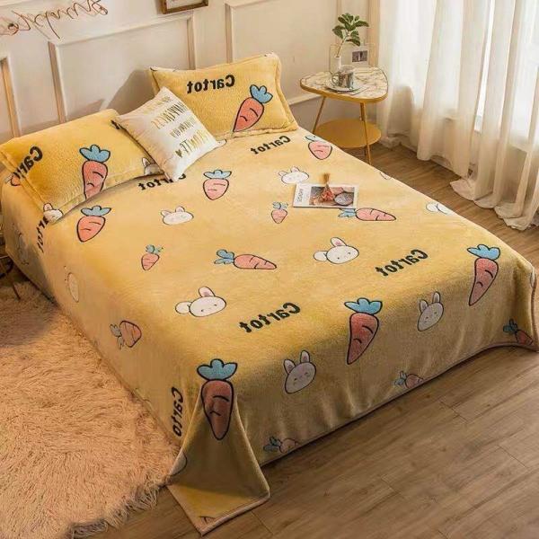 Chăn lông tuyết Muji siêu nhẹ (2m x 2m3) - chăn mền ngủ trưa văn phòng mịn đẹp, tiện lợi, có thể mang đi du lịch