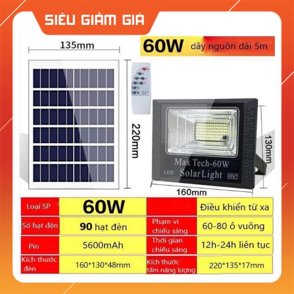 Bảng giá ĐÈN NĂNG LƯỢNG MẶT TRỜI MAX TECH  45W - 60W - 80W - 100W - 180W SOLAR LIGHT - ĐIỀU KHIỂN TỪ XA - PIN SẠC TRỌN DỜI - D1060