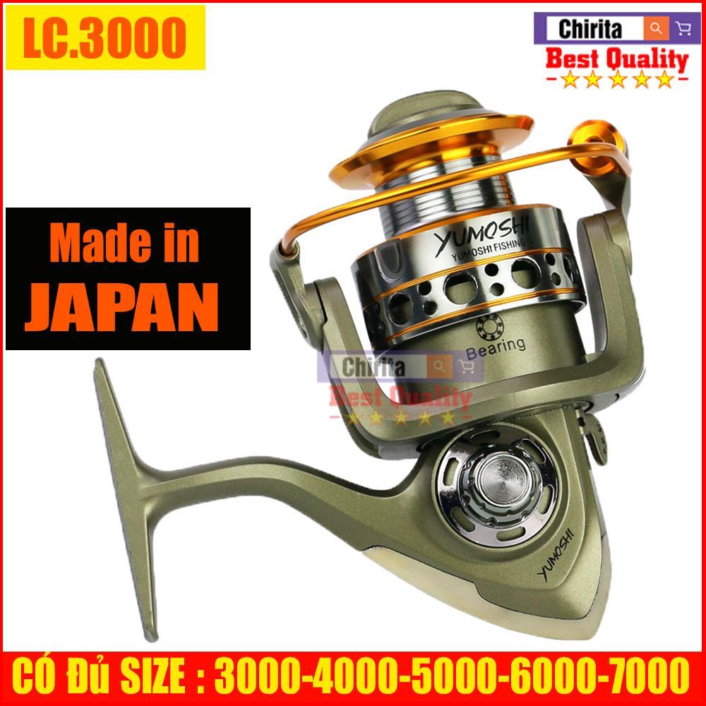 Máy Câu Cá YUMOSHI LC Nhật Bản 12 Ball Bearing - Hàng Loại Xịn Đầy Đủ SIZE LC 3000,4000,5000,6000,7000 Nhật Bản