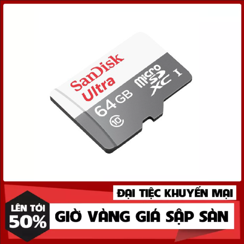 [Hàng Mới Về] Thẻ Nhớ MicroSDXC SanDisk Ultra 64GB Class 10 80MB/s - Hàng Chính Hãng