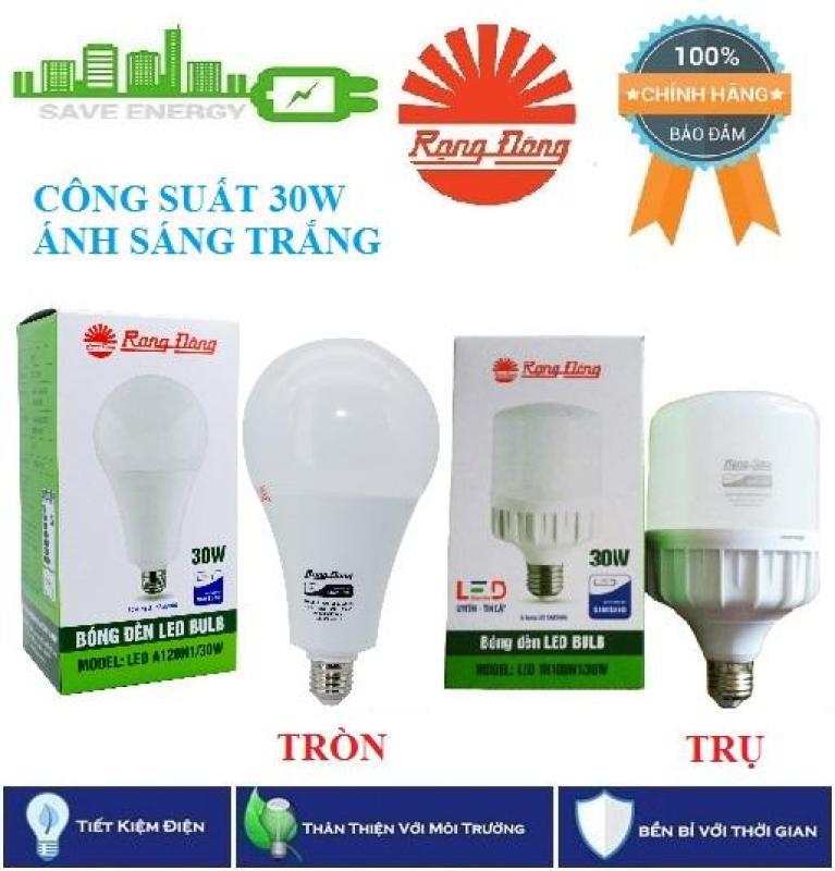 bóng đèn led tiết kiêm điện / Bóng đèn LED Rạng Đông BULB Tròn / Trụ 30W_Ánh sáng trắng