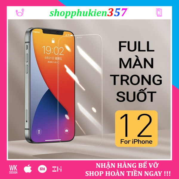 [HCM]Kính cường lực iPhone full màn không viền trong suốt