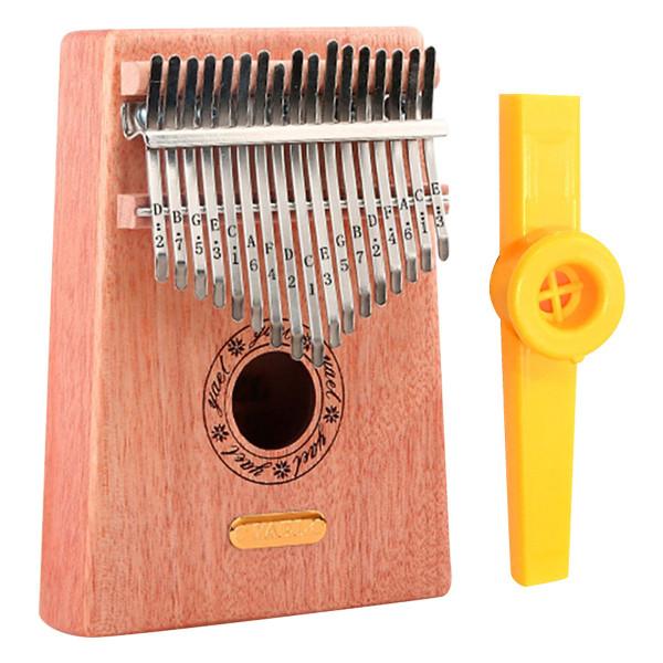 Đàn Kalimba 17 Phím Gỗ Mahogany Yael Y17M Kèm Kèn Kazoo - Hàng có sẵn