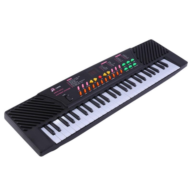 MQ Mq-5468 54 Key Music Electronic Keyboard Piano with Sound Effects- Portable for Kids & Beginners,Eu Plug