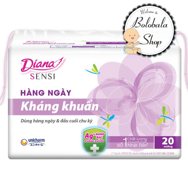 Băng vệ sinh hàng ngày Diana Sensi kháng khuẩn 20 miếng (hàng khuyến mãi)