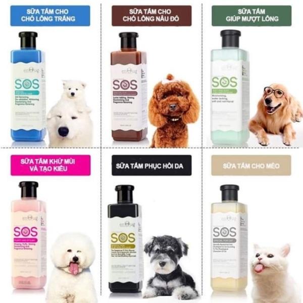Sữa tắm SOS cho chó mèo 530ml-Xanh lá