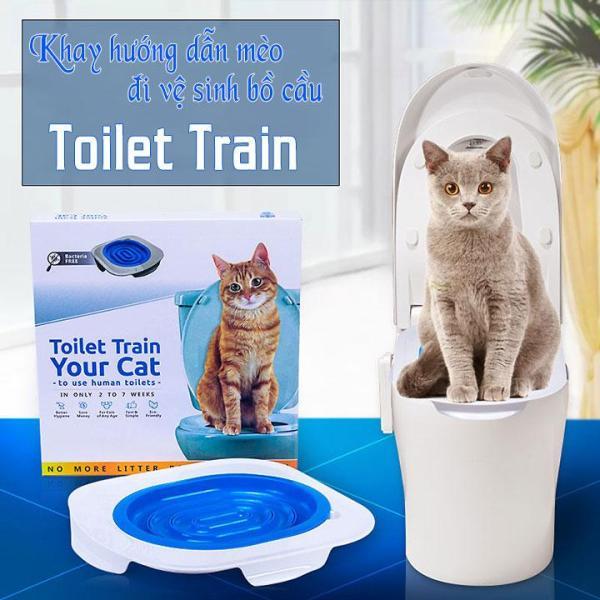 Dạy mèo vệ sinh bồn cầu Toilet Train Cao Cấp - Cutepets