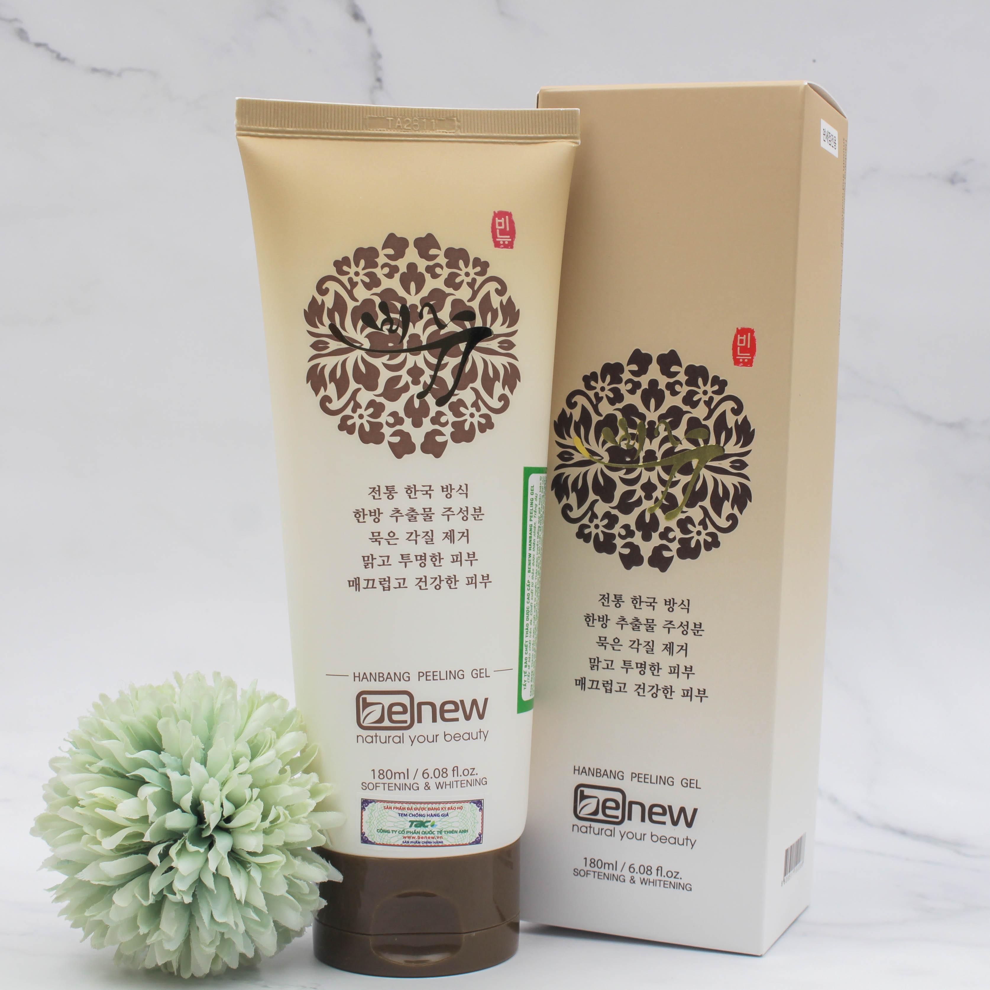 Kem tẩy tế bào chết thảo dược Benew Peeling Gel cho da mặt, làm sạch lỗ chân lông và làm trắng da cao cấp Hàn Quốc (180ml) Mẫu Mới – Hàng Chính Hãng