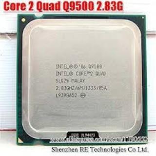 CPU Q9500 core 2 quad - CHíp Q9500 sk 775 kèm keo tản nhiệt thumbnail