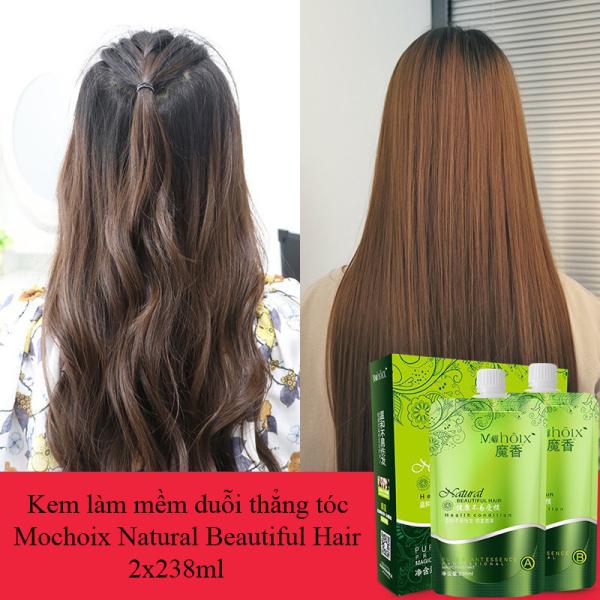 Kem làm mềm duỗi thẳng tóc Mochoix Natural Beautiful Hair 2x238ml cao cấp