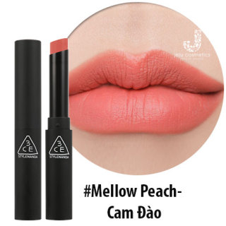 Son Thỏi Lì Mịn 3CE Slim Velvet Lip Color Mellow Peach Cam đào thumbnail