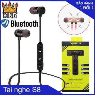 [ Xả Kho 1 Ngày ] Tai nghe bluetooth Sport S8 êm tai chống ồn thể thao giá gốc tích hợp tất cả các dòng có hỗ trợ blutooth hai đầu nam châm âm thanh siêu Bass thumbnail