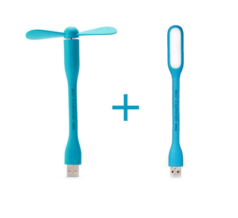 Combo tiện lợi - Đèn LED USB gen 2 - Đèn đọc sách chống cận và quạt USB cầm tay du lịch