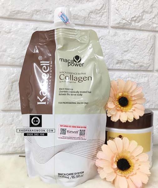 [HCM]Kem Hấp Tóc Collagen Karseell Maca Dạng Túi 500ML
