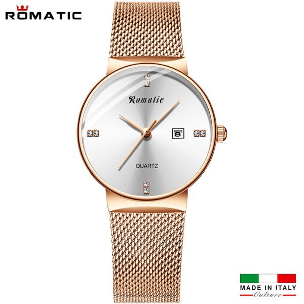 [HCM]ĐỒNG HỒ NỮ ROMATIC ITALIA - DÂY TITANIUM SANG TRỌNG + TẶNG HỘP & PIN bán chạy