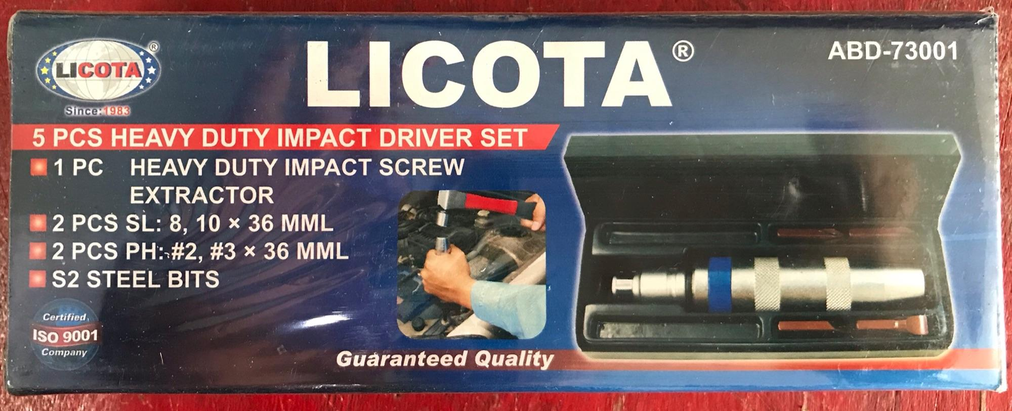 Bộ vít đóng 4 mũi Licota ABD-73001