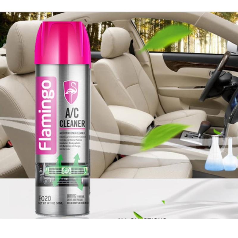[ GIÁ SỈ ] Bình xịt vệ sinh điều hòa ô tô - Dung dịch vệ sinh dàn lạnh FLAMINGO F020- Dung Tích 500 ml