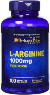 Viên uống tăng cường sinh lực, thải độc, tăng cường máu cho tim. giúp vợ chồng hiếm muộn, L-Arginine 1000mgcủa Puritan s Pride thumbnail
