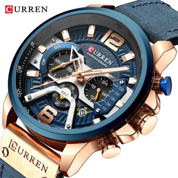Đồng hồ nam CURREN CU03 chính hãng mẫu mới nhất 2020 chống nước cực tốt dây da cao cấp, chạy full kim độc đáo bán chạy